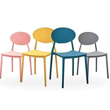JYMTOM Lot de 2 Chaises en Plastique de Salle à Manger ou de Jardin ou de Plage aux Styles Simple et Moderne (jaune)