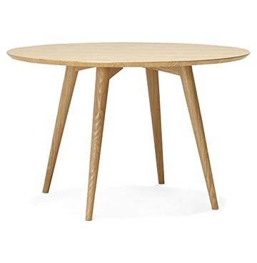 Alterego - Table à dîner Ronde 'SWEDY' en Bois Style scandinave - Ø 120 cm