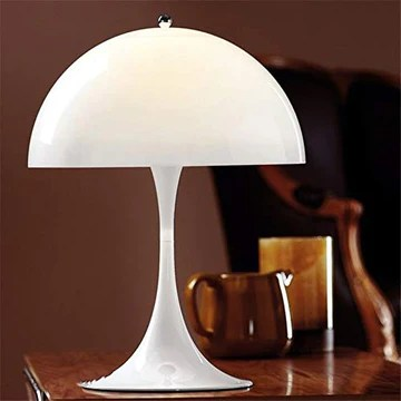 wysjlxcy Lampe de Table Moderne et créative aux Champignons Lampes de Table Blanc Lampe de Table Luminaire Salon Panthella Table Lumineuse (Lampshade Color : White)
