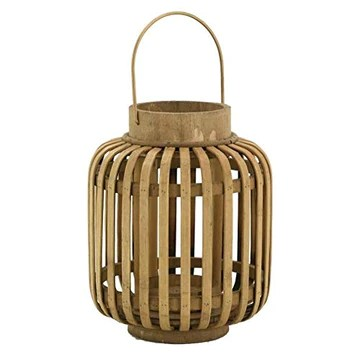 AubryGaspard Lanterne en Bambou et Verre
