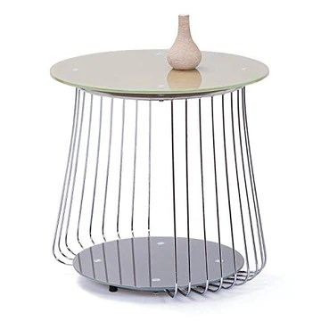 Interlink 50100160 Rivoli Table Basse Métal Cappuccino 50 x 50 x 50 cm