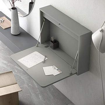 Meubles ROS Bureau Mural Rabattable - 54x78,4x16,5 cm - Blanc