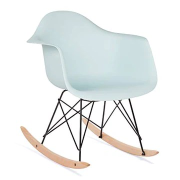 SKLUM Chaise à Bascule Scand Bleu Eau Noir & Bois Naturel - (Plus de Couleurs)