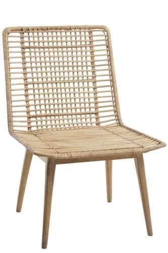 J-line Chaise en rotin et Bois de manguier