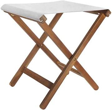 com-four® Tabouret Pliant en Bois - Chaise Pliante compacte - Tabouret Pliant Peu encombrant - Idéal pour Le Jardin, Le Camping (1 pièce - Tabouret Pliant Marron/Gris)