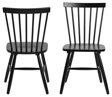 AC Design Furniture Susanne Chaises de Salle à Manger, Bois, Noir, L: 48 x l: 48,5 x H: 86 cm