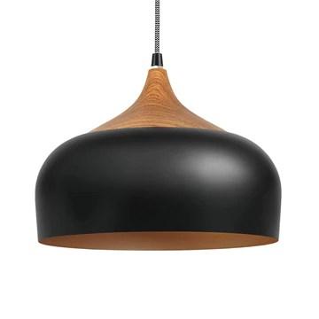tomons Suspensions Vintage, Plafonniers Retro Industrielle, E27 Luminaires éclairage intérieur, pour Cuisine Salon Salle à Manger Chambre - Noir