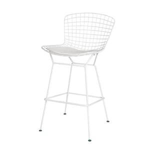 Personnalité de Fil Bar Chaise café Restaurant Haute Chaise créatrice Bertoia Chaise, 47 * 49 * 103 cm, Trois Couleurs en Option LJJOZ (Color : White)
