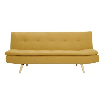 Miliboo Canapé Convertible scandinave 3 Places Jaune Moutarde Senso