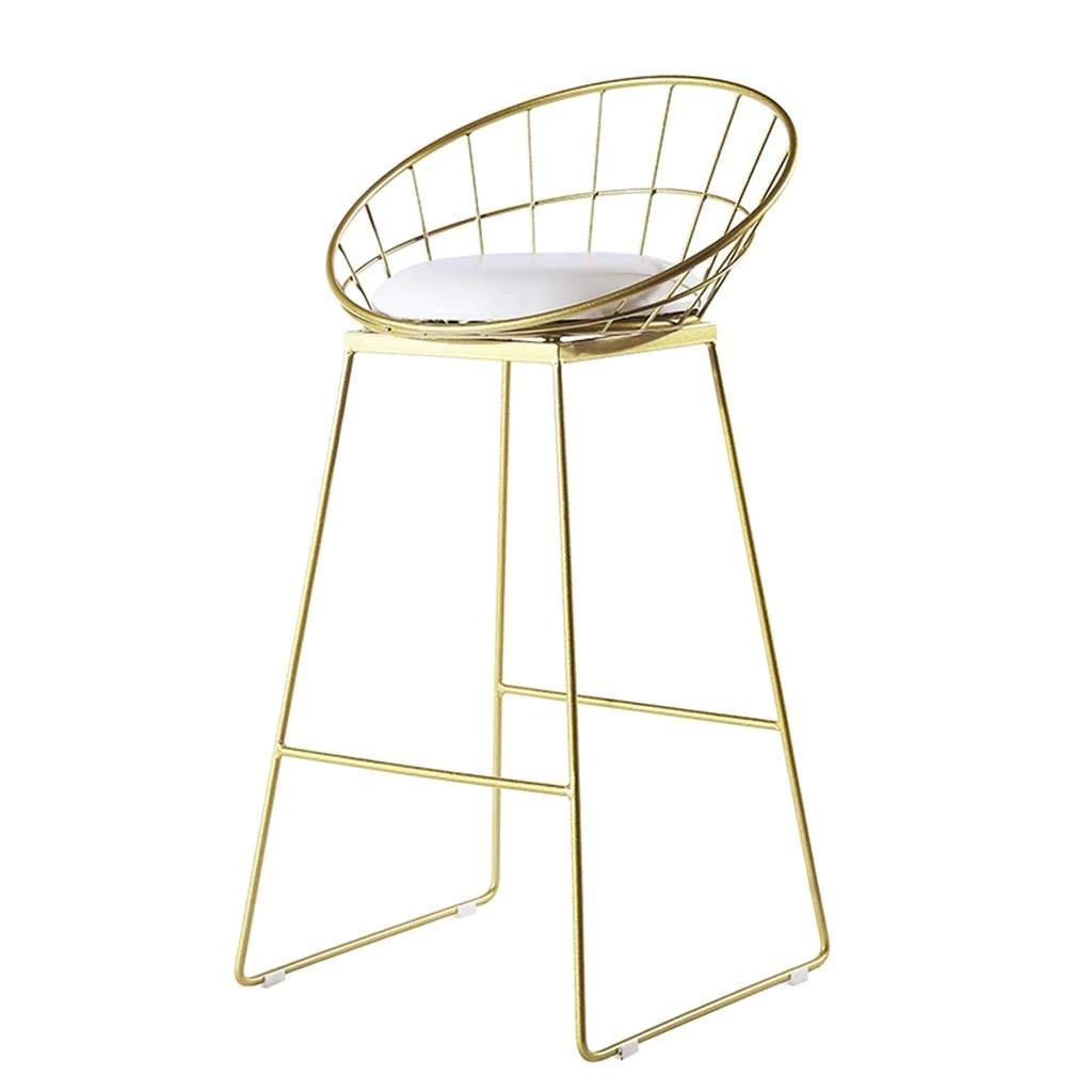 ylcj tabouret de bar nordique chaise de bar en fer forge chaise de salle a manger avec tabouret haut dore chaise de bar creuse en fil de fer max