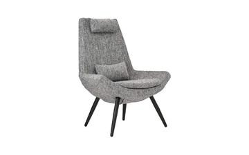 BHDesign Miranda - Fauteuil Moderne scandinave - 2 Coussins de Confort - Tissu - Gris Argenté