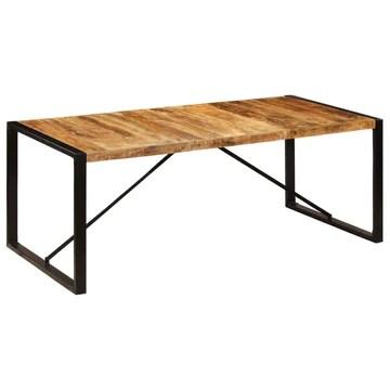 vidaXL Bois de Manguier Solide Table de Salle à Manger Table à Dîner Meuble de Cuisine Table de Repas Mobilier à Dîner Maion Intérieur