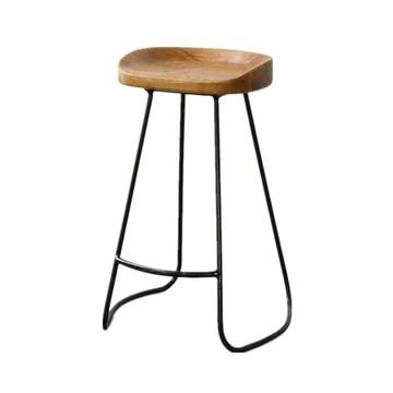 Chaise De Salle À Manger En Bois Avec Dessus En Métal, Style Rustique Vintage Et Design De Cuisine, Design De Bar, Style Industriel LEBAO (taille : A)