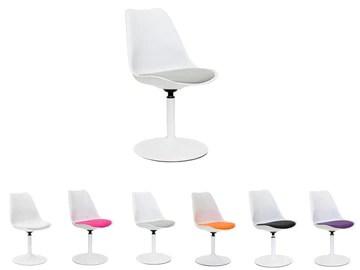 Tenzo 3303-412 VIVA Designer Chaise pivotante Blanc/Gris 49 x 53 x 83 cm