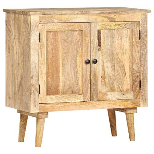 vidaxl bois de manguier massif buffet armoire de rangement avec 2 portes commode meuble de rangement armoire laterale maison interieur 75x35x75 cm