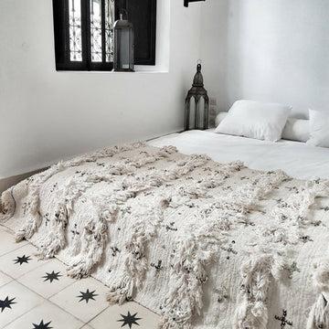 azul bereber handira, Le Style bohème de la literie, Boho décor Chic, Vieux Tapis Maroc, l'artisanat Arabe, décoration Arabe, Couverture Artisan, décoration de Mariage,