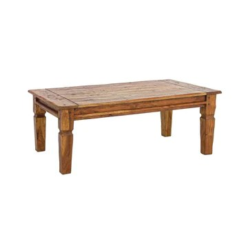 ARREDinITALY Table en Bois Massif Vieilli 120 x 70 cm