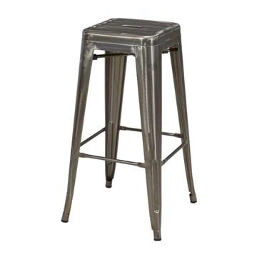 Duhome Tabouret de Bar en métal/Fer métallique empilable Design Industriel sélection de Couleur 665D