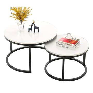 HANSHAN Table d'appoint Table Gigogne, Tables Basses