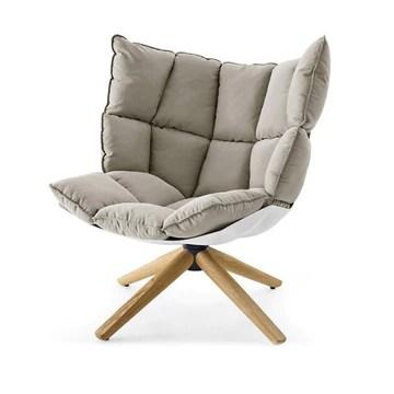 Dfghbn Canapé Chaise Salon Overstuffed Coussin de Chaise avec Les Jambes en Bois Chambre Plancher for Canapé Chaise Lazy Lounge Chaise (Color : Gray, Size : Free Size)