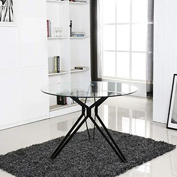 Table à Manger Ronde Design en Verre - Matera