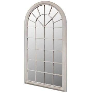 Vislone Miroir de Jardin Design Antique pour Intérieur et Extérieur 116 x 60 cm