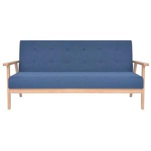 Luckyfu ce canapé 3 Places en Tissu Bleu.Ce canapé au Design élégant et Moderne également très Comodo. canapé de séjour.