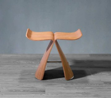 LYX® Chaise de papillon, chaise pour enfants chaussures en bois massif banc tabouret tabouret salle de bain tabouret tabouret maison salon balcon étude jardin chaussure banc tabouret multifonction boi