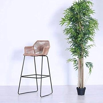 STOOL Chaises de bureau Kitchen Cuisine et petit déjeuner tendance Tabouret de bar Tabouret de maquillage Chaise de comptoir Balcon en rotin Siège en osier de 75 cm de hauteur