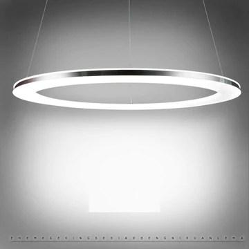 Lustre Rond, LED Suspension Lumière pendante Moderne Créatif Art Désign Lampe suspendue pour Salon Cuisine Table de salle à manger Bar Grenier Chambre Bureau Étude Lustre Éclairage (1 Circles)