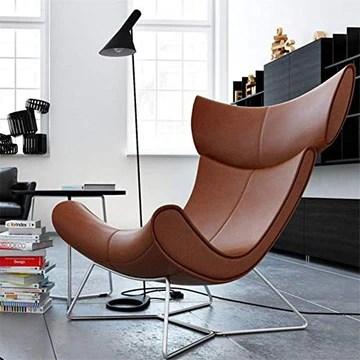 KJGLXD Salon Sofa Cuir véritable Inclinable Canapé-lit Meubles Home cinéma Style Artistique Paresseux Chaise de canapé,Marron