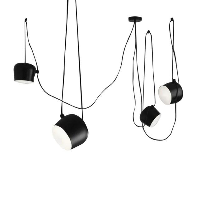 LEIKAS Industrielle en Aluminium Suspension De L'araignée avec Acrylique Noir Blanc LED Suspendu Plafond Lampes Bureau Café Bar Décor