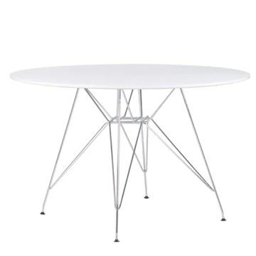 SKLUM Table Brich Scand Brich MDF Ø120 Métallisée Chromé Blanc - (Plus de Couleurs)