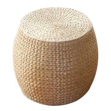 Tabouret en rotin Rond/Repose-Pied créatif, Tabouret de Table Basse Simple, canapé Maison, Convenant au Salon, à la Chambre à Coucher, à l'étude (30 × 30 × 42 cm)