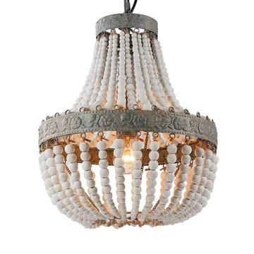 Newrays Rétro loft Vintage En Bois Perles Pendentif lampe E27 220 V led Lampe Suspendue Décor Lumières Moderne Salon Hôtel Cuisine