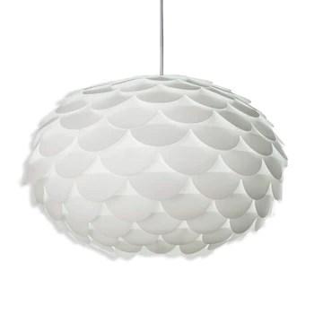 B.K. Licht suspension design blanc, plafonnier élégant, éclairage intérieur, lustre chambre bureau, lampe plafond cuisine salon salle à manger couloir, culot E27, IP20, max. 60W, Ø 460 mm
