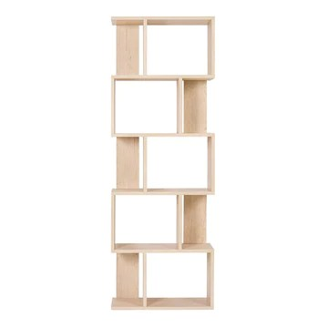 Rebecca Mobili RE4788 Étagère Moderne, bibliothèque en Bois, 5 étagères, Style Moderne, Beige, ameublement Salon, Maison, Bureau, 172,5 x 60 x 24 cm