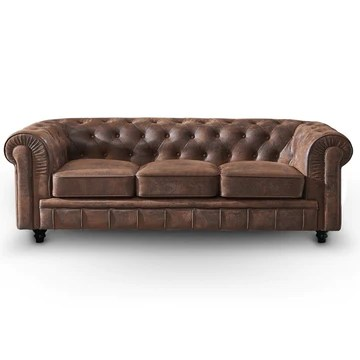 INTENSEDECO Canapé Chesterfield 3 Places Vintage