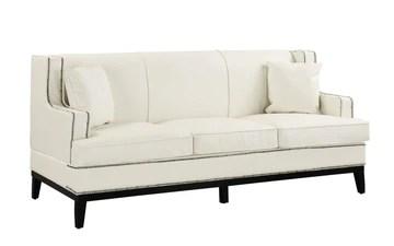 BHDesign Carmen - Canapé Moderne Vintage élégant - Simili Cuir - Coloris Blanc
