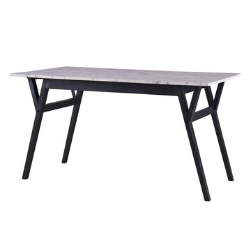 Versanora - Ashton rectangulaire à Manger Faux marbre Table- / Noir VNF-00079B