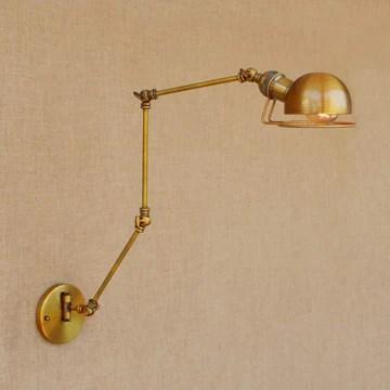 Applique murale à bras articulé rustique, lampe de mur industrielle de style rétro loft industrielle, applique murale jaune @ Jaune