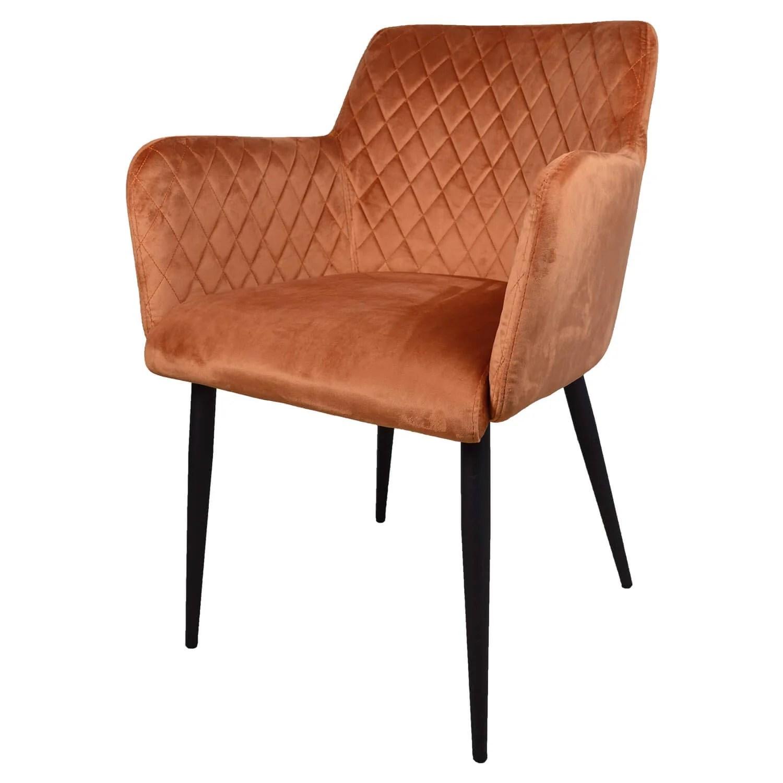 damiware rose chaise avec accoudoir
