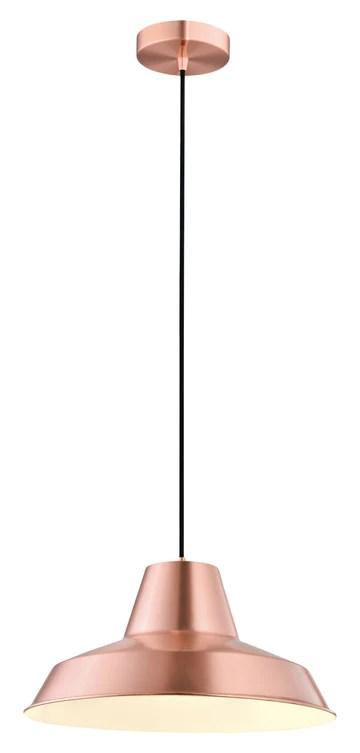 interfan Palao Lampe suspension E27, couleur cuivre