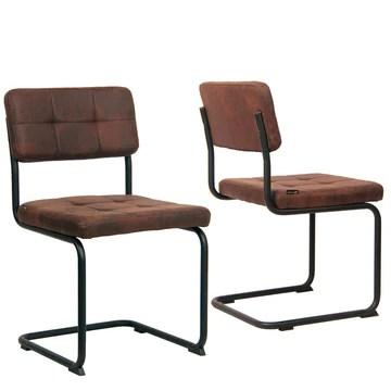 KAYELLES Chaise Design SAFI Lot de 2 (Marron)