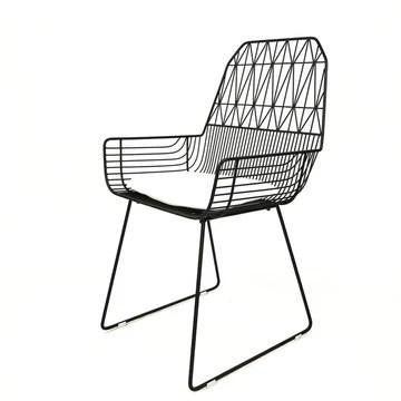 QFFL Chaise en métal de Chaise de Salle à Manger Creuse de Chaise de Fil Creux de selles 2 Couleur facultative Tabouret d'extérieur (Couleur : A)