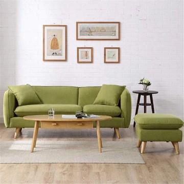 Canapé paresseux Canapé-lit Dossier/bras mobile Jambe en bois naturelle mobile Assemblage facile Nouvelle vie à la mode Design Accrocheur (Couleur : Vert, Taille : Two person)