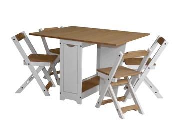Greenheart Furniture Ensemble de meubles Papillon pour salle à manger avec 4 chaises pliantes