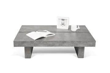 Delamaison Jinto Table, Aspect béton, Gris, 94 x 62 x 25 cm