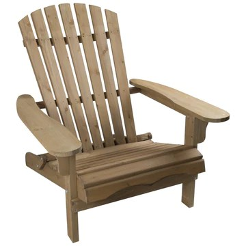 Woodside Chaise Adirondack en bois - pour extérieur
