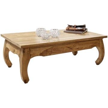 FineBuy Table Basse Bois Massif Acacia Table de Salon 110 x 40 x 60 cm | Table d'appoint Style Maison de Campagne | Meubles en Bois Naturel Table de Sofa | Table en Bois Massif Meubles en Bois Massif